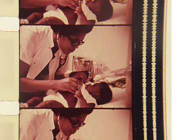 Film from Code Blue, a 1972 recruitment film aimed at bringing minorities into the medical field.