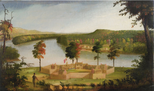 A painting of early Marietta, Ohio, from the mid-1930s.