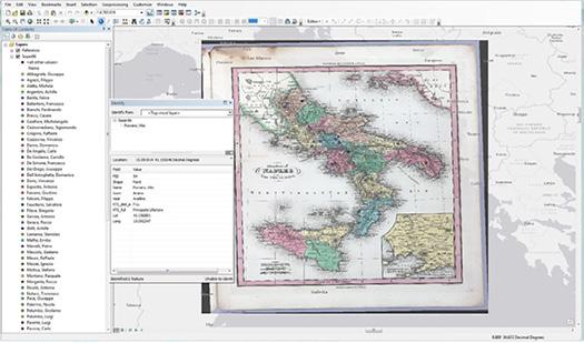 Prisoner data in ArcGIS desktop.