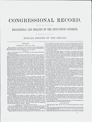 Sample from the 1897 Congressional Record.