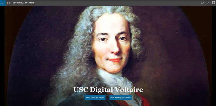 USC Digital Voltaire screenshot