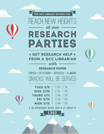 A copy of the Research Parties flier.
