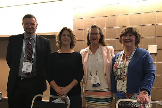 """""""Building inclusion"""" panelists (left to right): Morgan Tracy, Rachel Mulvihill, Karen F. Kaufmann, and Peggy L. Nuhn."""