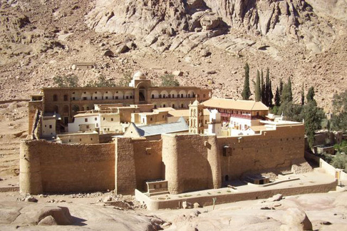 The fathers of St. Catherine's Monastery have been careful stewards of the oldest continually operating library in the world for centuries. Courtesy UCLA Library.