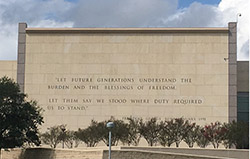 George H. W. Bush Library inscription.