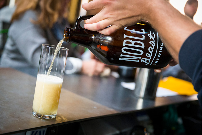 You'll find local craft beer at Noble Beast Brewing Company. Photo credit: Cody York for ThisIsCleveland.com.