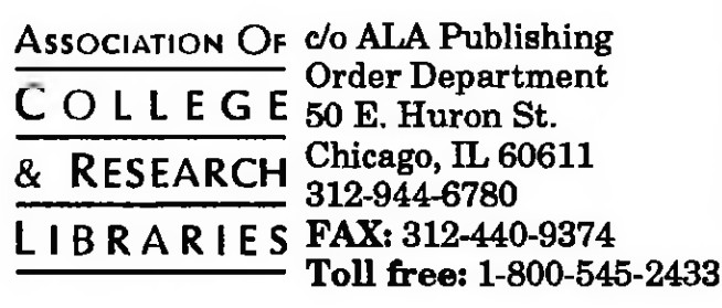 THE CLASSIFIED ADS | Library Association | College