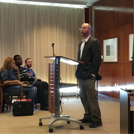 Associate Professor of History Carl Bon Tempo presented his Campus Conversations in Standish talk in the Fall 2016 semester