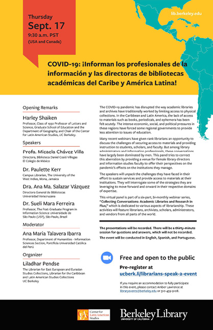 The Spanish-language version of the first webinar flyer.