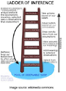 """Chris Argyris's """"Ladder of Inference."""" Source: Wikimedia Commons."""