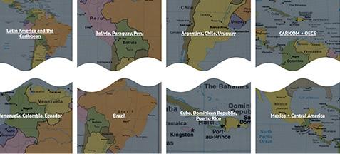 Monitoring COVID-19 in Latin America and the Caribbean screenshot.