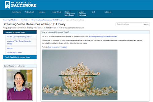 Streaming Video Resources at the RLB Library.